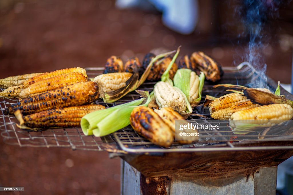 Baked Mexican Street Corn : Stock Photo