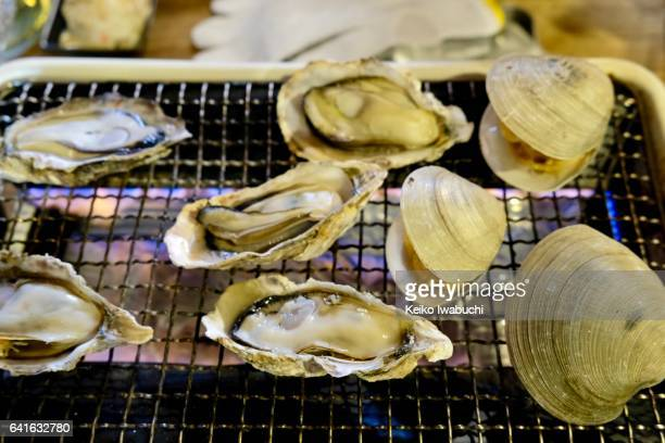 Baked oyster and clam
