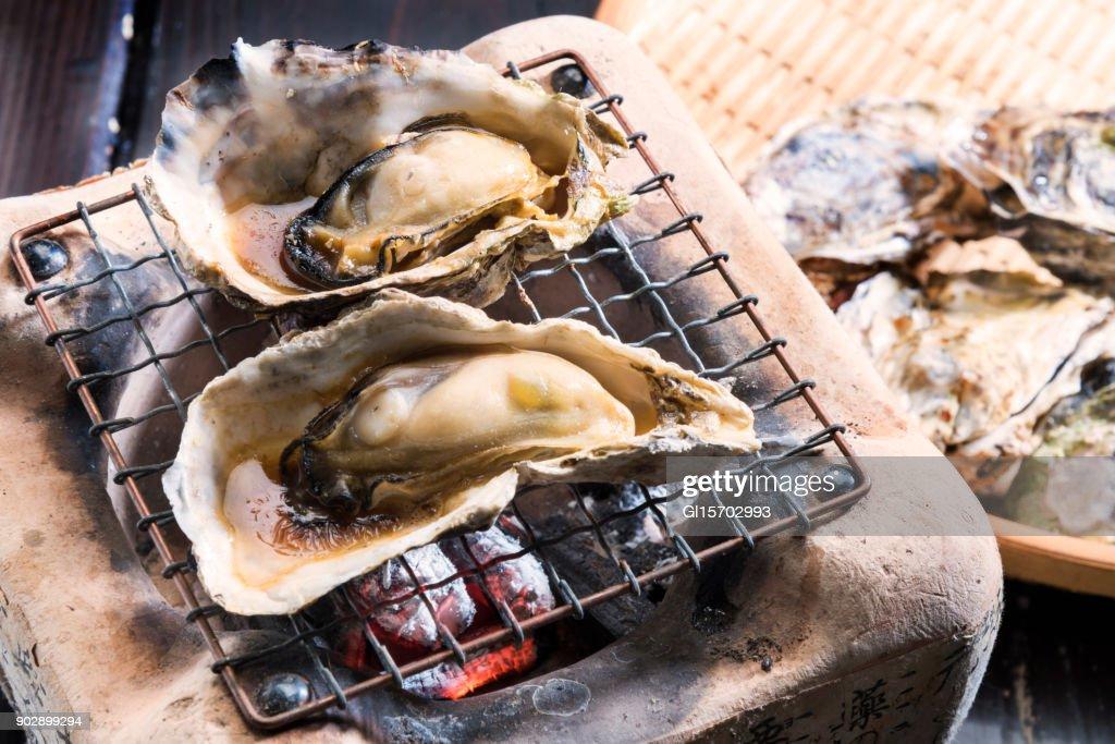 焼き牡蠣 : ストックフォト