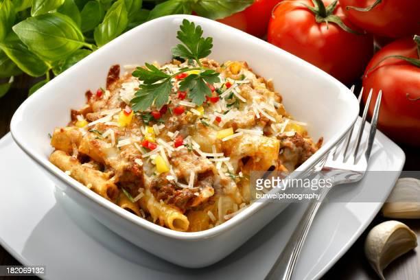 Baked Pasta with Marinara Sauce