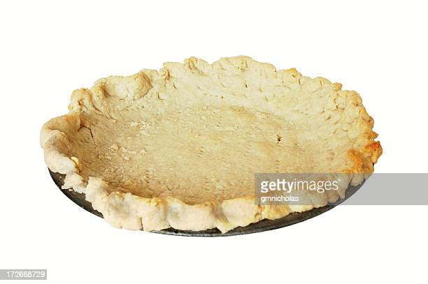 baked pie crust - savory pie stock photos and pictures