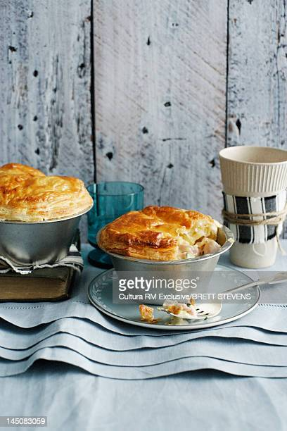 Baked pies with flaky pastry