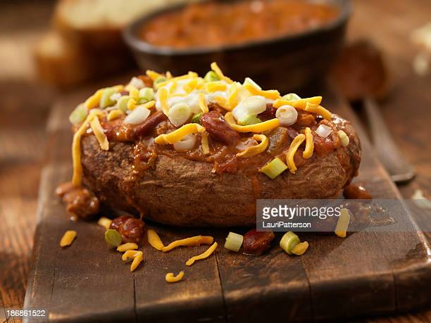Baked Potato Topped with Chili