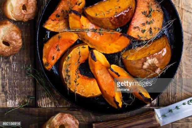 baked pumpkin - pumpkin stock pictures, royalty-free photos & images