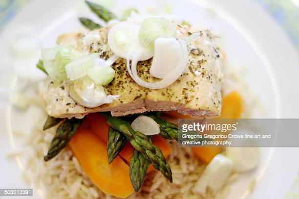 baked salmon - gregoria gregoriou crowe fine art and creative photography stock photos and pictures