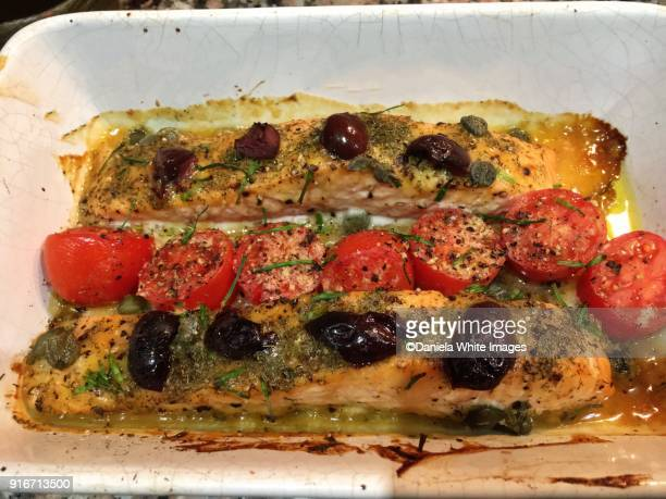 Baked Salmon slices