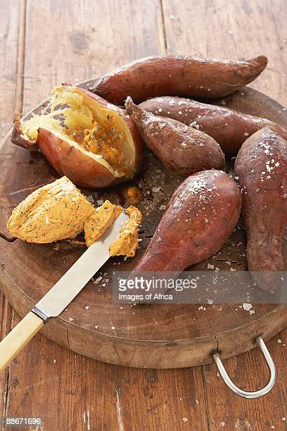 Baked sweet potato with savoury butter, South Africa