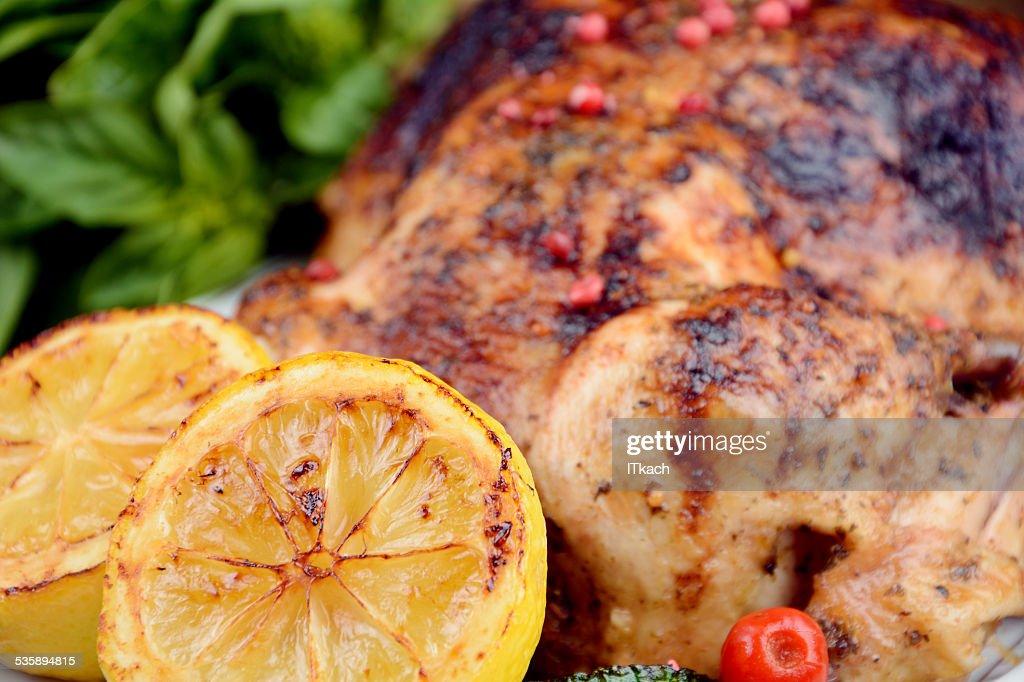 Leckere hot-Huhn gebacken : Stock-Foto