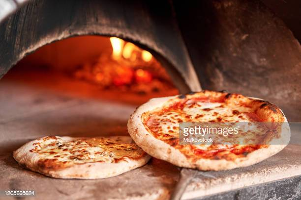 baked tasty margherita pizza traditional wood