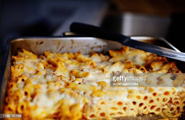baked ziti - cheese stock pictures, royalty-free photos & images
