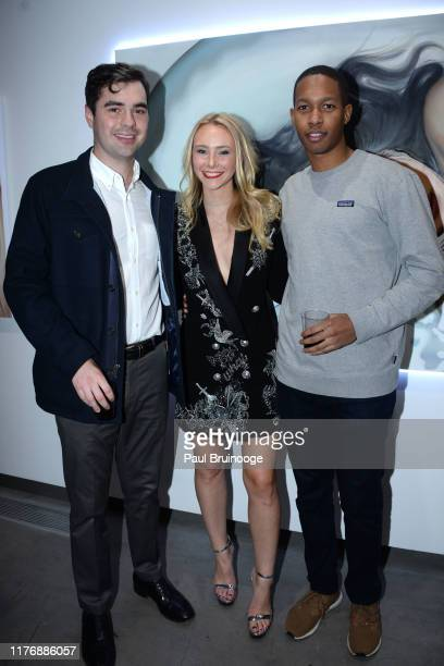 Baker Alexandra Houx Grounds and Guest attend Delusions of the Wild Solo Exhibition By Alexandra Houx Grounds at 213 Bowery on October 17 2019 in New...