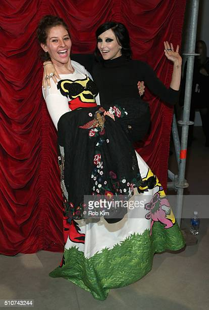 Baker Amirah Kassem and designer Stacey Bendet attend the alice olivia by Stacey Bendet Fall 2016 presentation at The Gallery Skylight at Clarkson Sq...