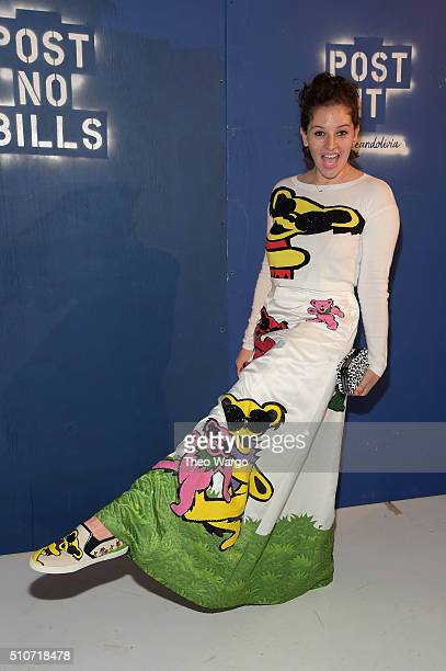 Baker Amirah Kassem attends the Alice Olivia By Stacey Bendet Arrivals at The Gallery Skylight at Clarkson Sq on February 16 2016 in New York City