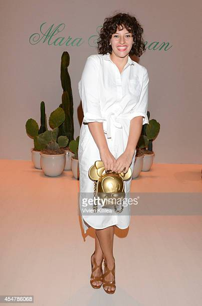 Baker Amirah Kassem attends the Mara Hoffman runway show during MercedesBenz Fashion Week Spring 2015 at The Salon at Lincoln Center on September 6...