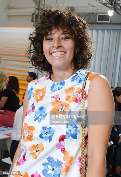 Baker Amirah Kassem attends the Tanya Taylor fashion show during MercedesBenz Fashion Week Spring 2015 at Industria Studios on September 5 2014 in...