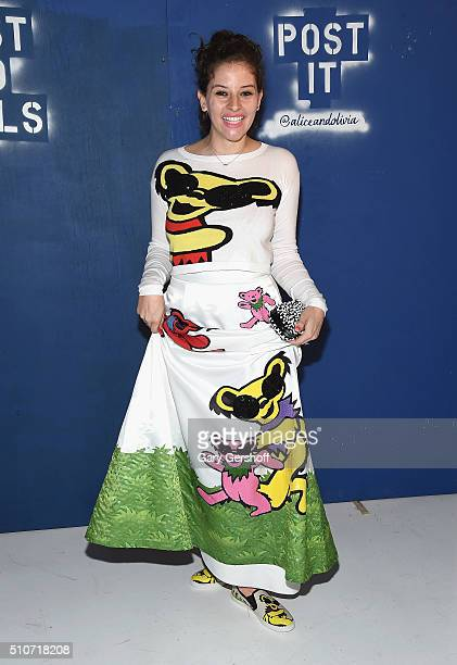 Baker and flourist Amirah Kassem attends the Alice Olivia by Stacey Bendet presentation during New York Fashion Week Fall 2016 at The Gallery...