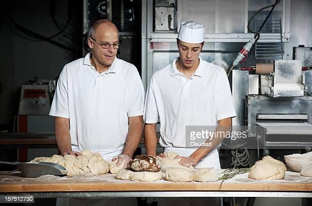 Baker und sein Sohn im bakery