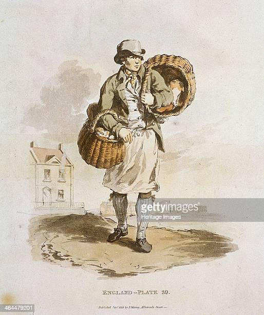 A baker carrying two baskets of his wares from Provincial Characters 1813