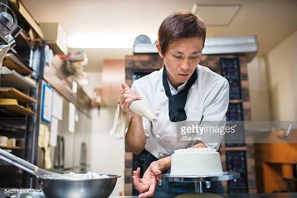 Baker Décorer un gâteau