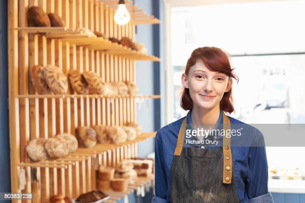 Baker in artisan bakery
