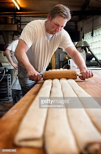 Baker in Denmark Making Danish Pastries