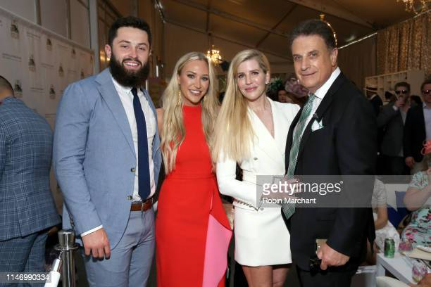Baker Mayfield Emily Wilkinson Pamela Benger and Bruce Zoldan attend the 145th Kentucky Derby at Churchill Downs on May 4 2019 in Louisville Kentucky