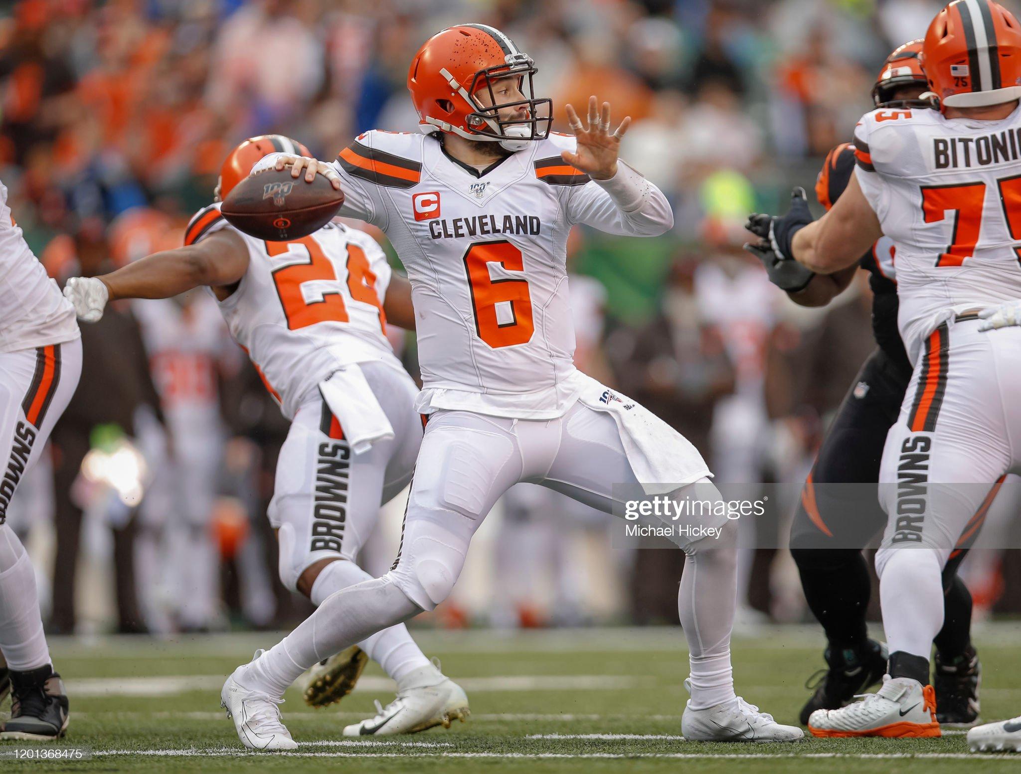 Cleveland Browns v Cincinnati Bengals : Foto jornalística