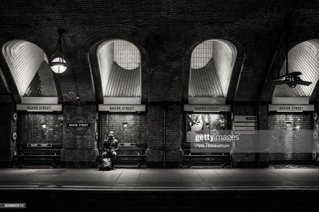 Baker Street lone person : Stock-Foto