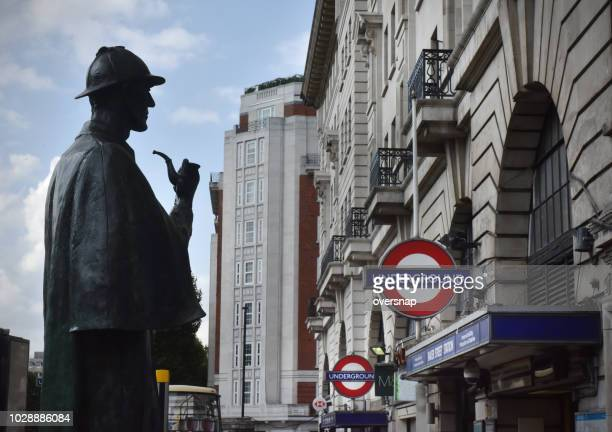baker street sherlock - sherlock holmes stock pictures, royalty-free photos & images