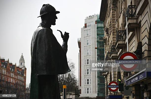 baker street silhouette - sherlock holmes stock pictures, royalty-free photos & images