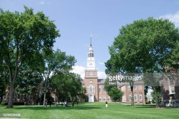baker-berry library of dartmouth college in hanover - new hampshire during summer day - hanover new hampshire stock pictures, royalty-free photos & images