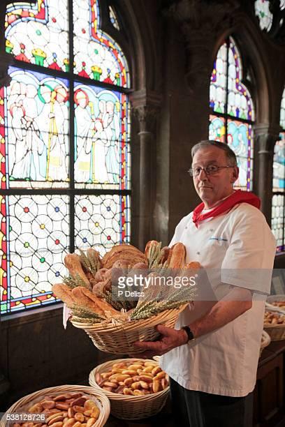 Bakers' celebration in Notre Dame de Paris cathedral