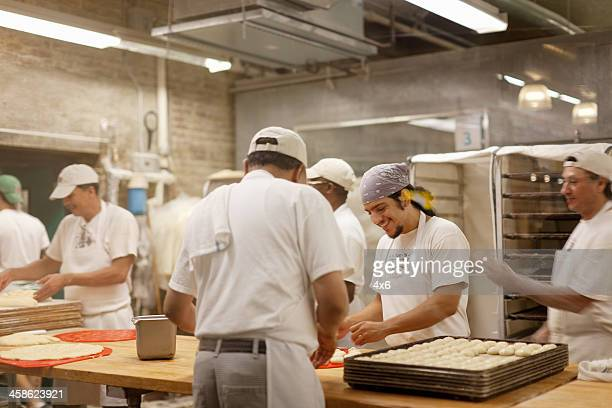 Bakers preparing bread