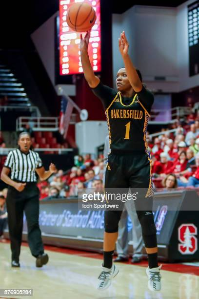 Bakersfield Women's Basketball Sophomore Guard Daije Harris shoots a free throw during the women's basketball game between Cal State Bakersfield and...