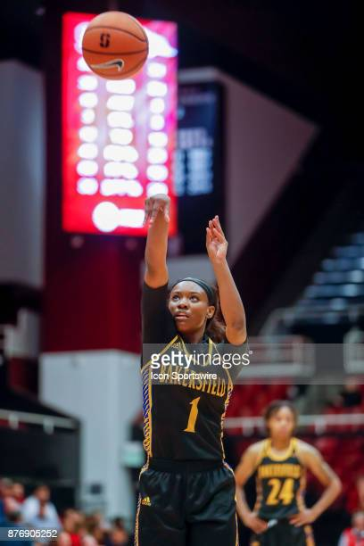 Bakersfield Women's Basketball Sophomore Guard Daije Harris takes a free throw during the women's basketball game between Cal State Bakersfield and...