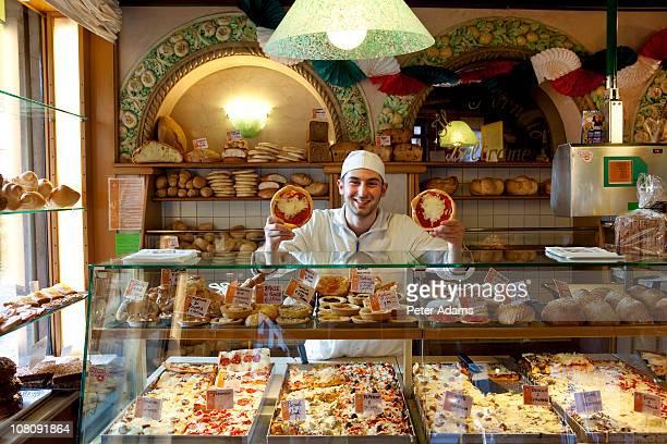 bakery, bassano del grappa, veneto, italy - バッサーノデルグラッパ ストックフォトと画像