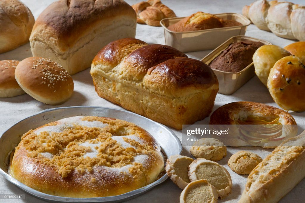 breads and pastries cooked in a wood-fired oven.
