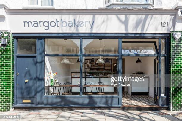 Bakery front view from the street. Margot Bakery, London, United Kingdom. Architect: Lucy Tauber, 2016.