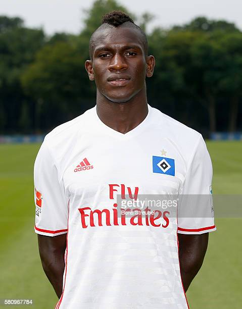 Bakery Jatta of Hamburger SV poses during the Hamburger SV Team Presentation at Volksparkstadion on July 25 2016 in Hamburg Germany