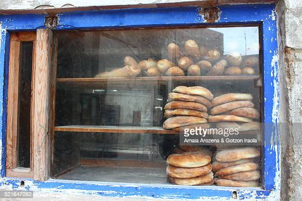 Bakery showcase in Essaouira