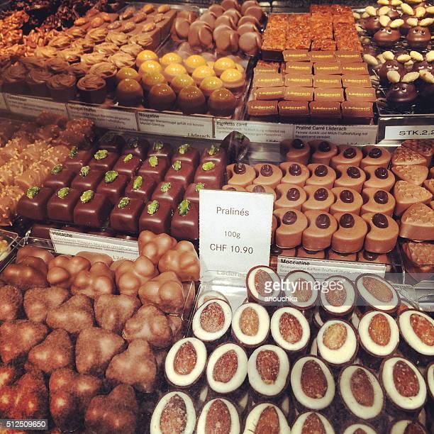 Bakery window display in Zurich, Switzerland