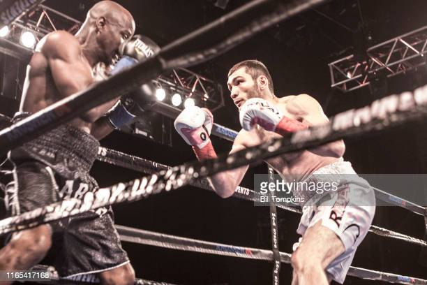 Bakhram Murtazaliev defeats Kenneth McNeil by TKO in the 5th round during their Super Welterweight fight at Madison Square Garden on March 3, 2018 in...