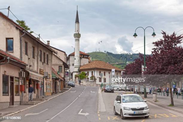 bakija mosque in sarajevo - gwengoat stock pictures, royalty-free photos & images