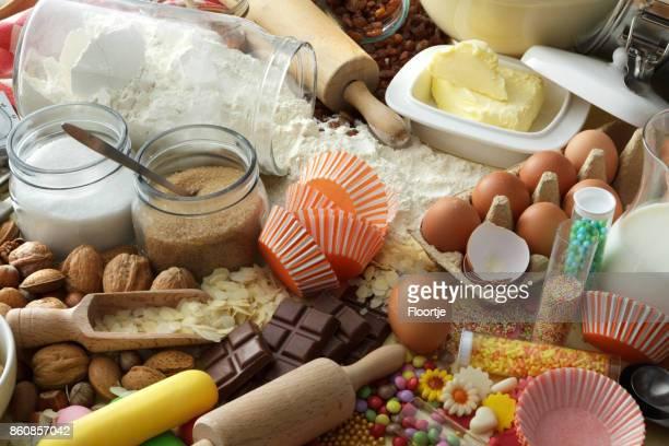 Bakken: Bakken ingrediënten stilleven
