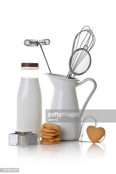 baking biscuits - colander stock photos and pictures