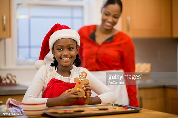 Baking Cookies at Christmas Time