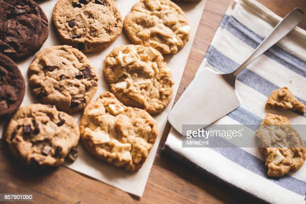 baking cookies - wax paper stock photos and pictures