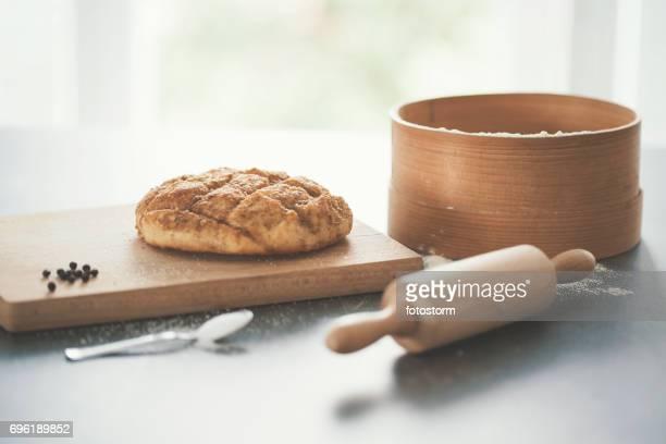 Baking homemade bread