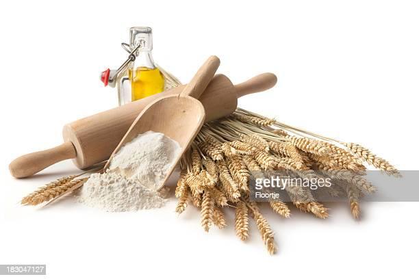 焼く素材:小麦粉、小麦、オリーブオイル