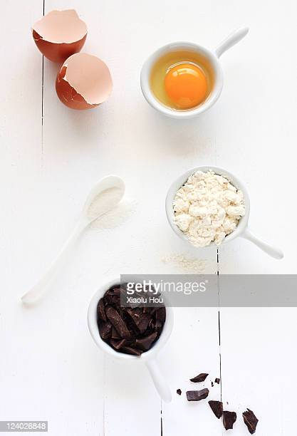 Baking ingredients for brownies